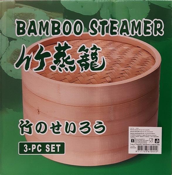 2 Bamboo Steamer 3pcs 1