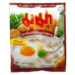 Mama Pre Cooked Rice Porridge Pork Flavour 50g 1