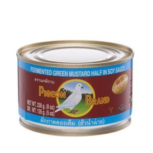 Pigeon-Brand-Fermented-Green-Mustard-Half-in-Soy-Sauce-230g