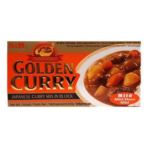 Sb Golden Curry Japanese Curry Mix In Block Mild 220g 3