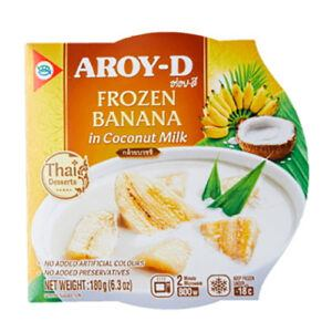 Aroy D Frozen Banana In Coconut Milk 180g 1