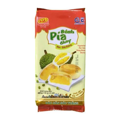 Banh-Pia-Chay-Vegetarian-Pia-Cake-Mung-Beans-Durian-400g-4pcs