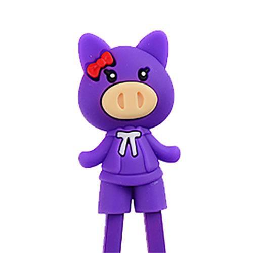 children-chopsticks-pig-girl-purple-22cm-1